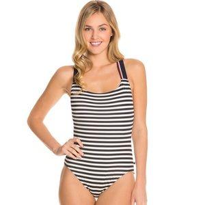 Tommy Hilfiger Lake Side Stripe One Piece Swimsuit